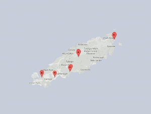 2016 Tobago map of murders